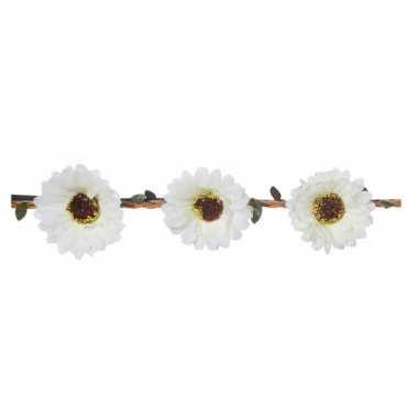 Haarband met witte bloemen voor dames
