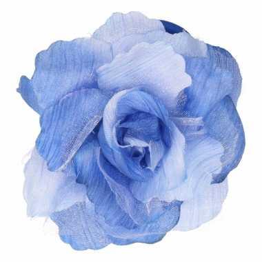 Haarbloem met klem blauw