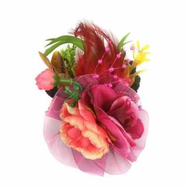 Haarbloemen met klem fuchsia roze