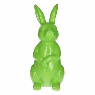 Haas / konijn tuin decoratie beeld groen 30 cm