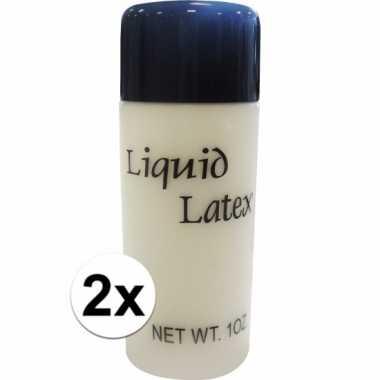Halloween - 2x vloeibare liquid latex make up