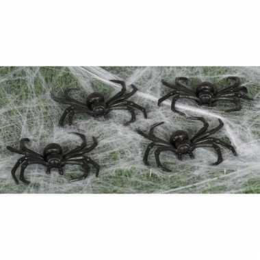 Halloween beestjes zwarte spinnetjes 8 cm