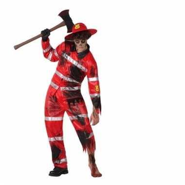 Halloween brandweer zombie kostuum