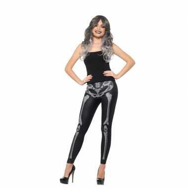 Halloween dames legging met botten