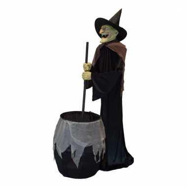 Halloween Decoratie Bestellen.Halloween Decoratie Bewegende Heks 180 Cm