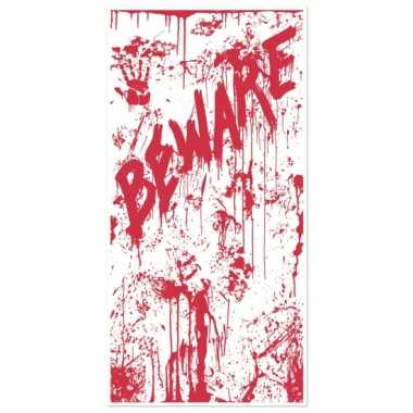 Halloween deurposter beware