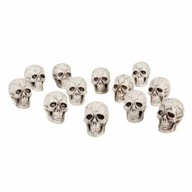 Halloween doodshoofden 12 stuks