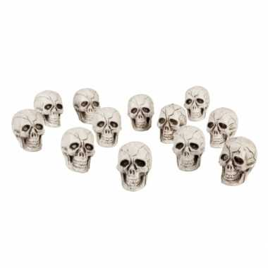 Halloween doodshoofden 24x stuks