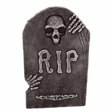 Halloween grafsteen doodshoofd 50 cm