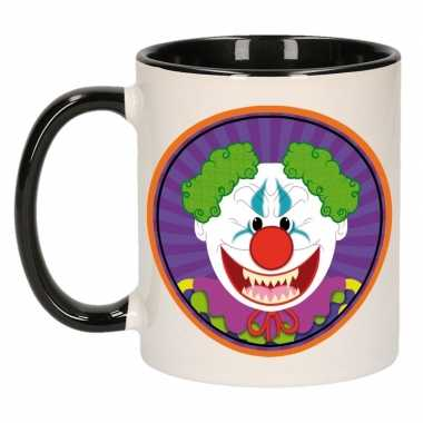 Halloween - halloween horror clown mok / beker 300 ml