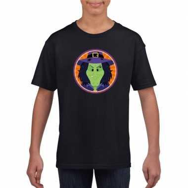 Halloween heks t-shirt zwart kinderen