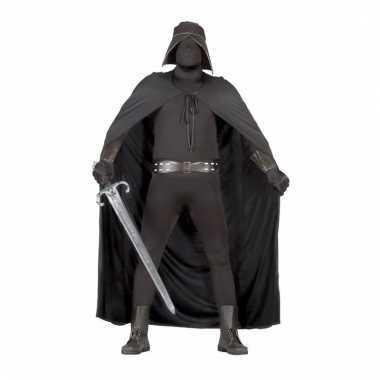 Halloween heren verkleedkleding zwarte dienaar
