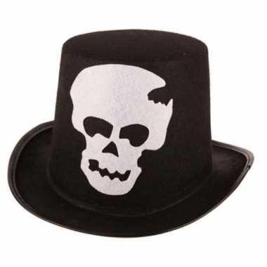 Halloween hoed met schedel voor volwassenen
