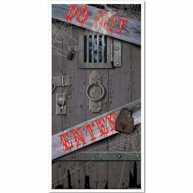 Halloween/horror deur poster do not enter versiering/decoratie 76 x 1