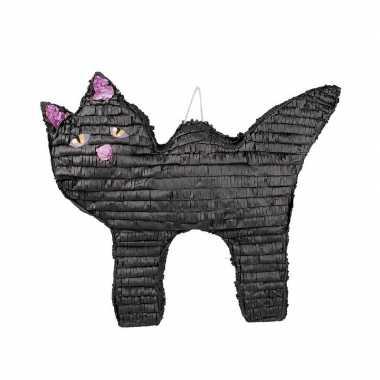 Halloween kinderfeest pinata katten/poezen zwart 58 cm