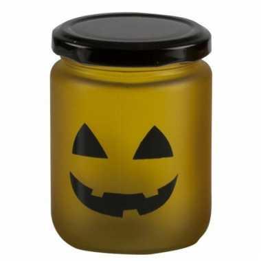 Halloween led verlichting geel met geel gezicht