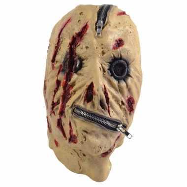 Halloween masker met rits
