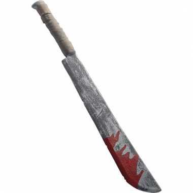 Halloween mes met bloed