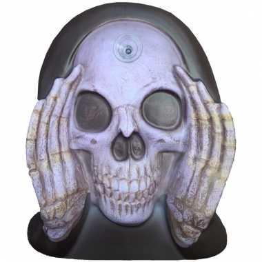 Halloween raamversiering skelet gluurder