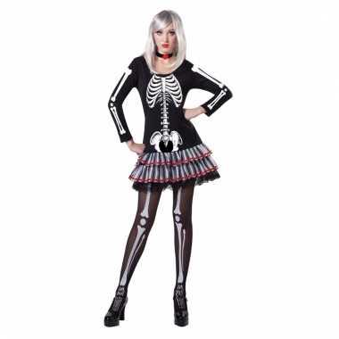 Halloween skelet outfit voor dames