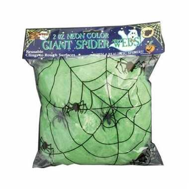 Halloween spinnenweb groen