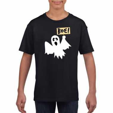 Halloween spook t-shirt zwart kinderen