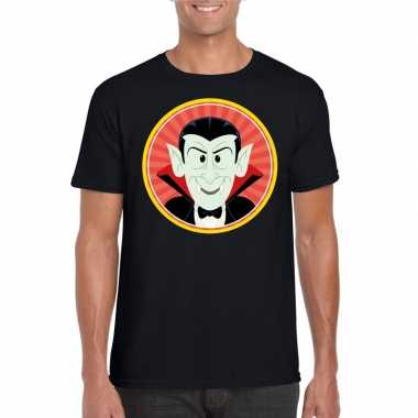 Halloween vampier/dracula t-shirt zwart heren