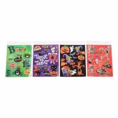 Halloween vensterdecoratie stickers 1 paars vel