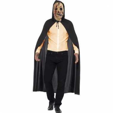 Halloween verkleedkleding zombie cape met rits masker