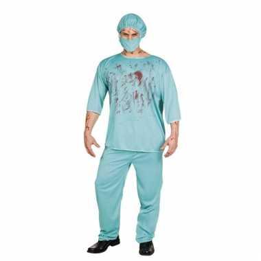 Halloween verkleedset bloederige chirurg