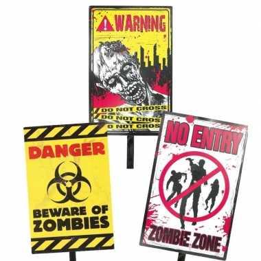 Halloween waarschuwing bord danger 38 cm