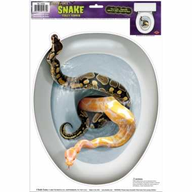 Halloween wc bril sticker slangen