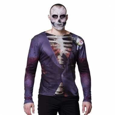 Halloween zombie bruidegom shirts