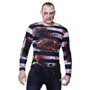 Halloween zombie gevangene shirts