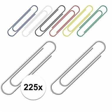 Handige gekleurde paperclips 225 stuks