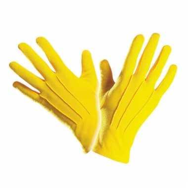 Handschoen geel kort