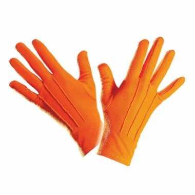 Handschoen oranje kort