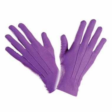 Handschoen paars kort