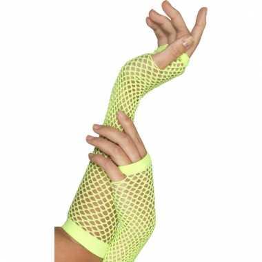 Handschoen visnet groen