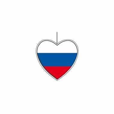 Hangdecoratie hartvormig rusland 14 cm