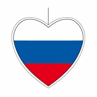 Hangdecoratie hartvormig rusland 28 cm