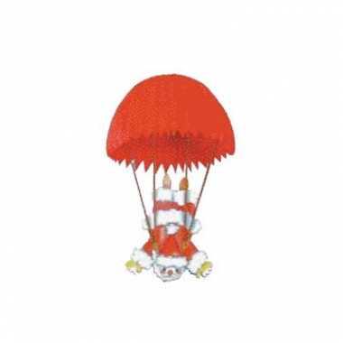 Hangdecoratie kerstman parachute