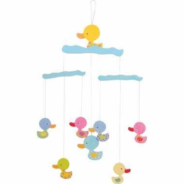 Hangdecoratie mobiel voor kinderen met eenden 40 cm
