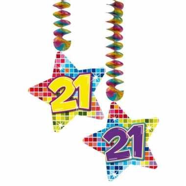 Hangdecoratie verjaardag 21 jaar