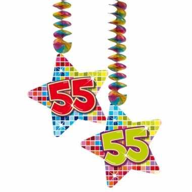 Hangdecoratie verjaardag 55 jaar