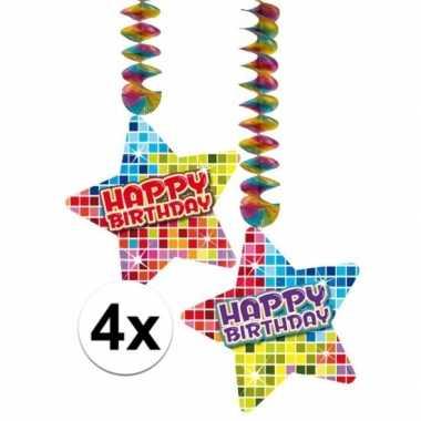 Hangdecoratie verjaardag happy birthday jaar
