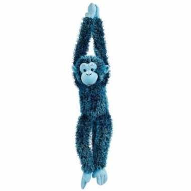 Hangende blauwe aap knuffels 84 cm