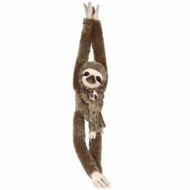 Hangende luiaard met baby knuffels 90 cm