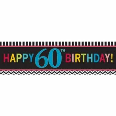 Happy 60th birthday banner 165 cm