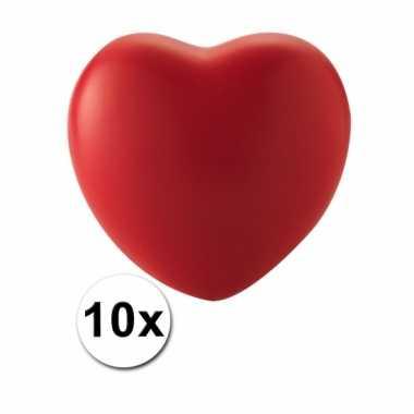 Hart stressballetjes 10x